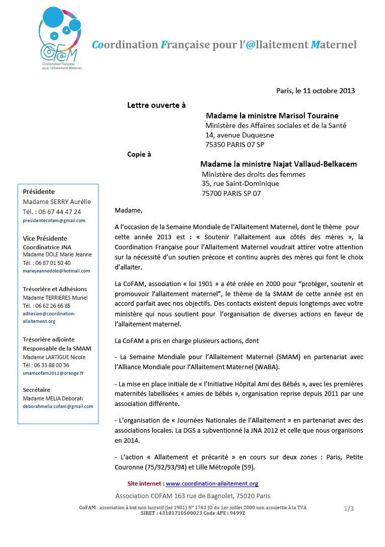 Allaitement COFAM 1
