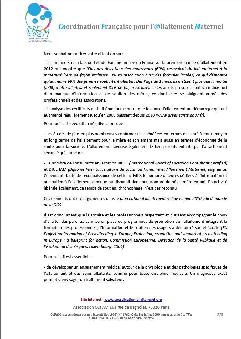 Allaitement COFAM 2